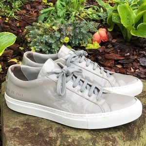 Woman By Common Projects Gray Patent Sneakers